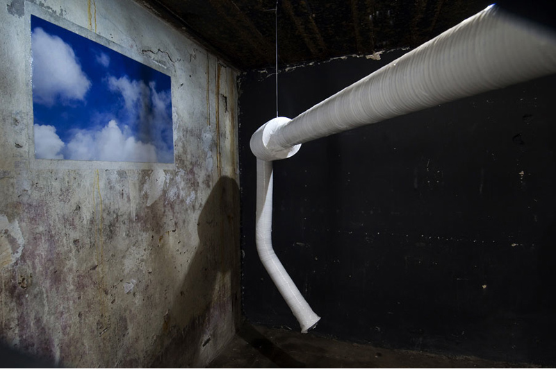 Conditioner - Royal Hospital, 2010 tubes, plastics, ventilators, photo's, video, antiseptic air Bunker project by galerie West, The Haque Photo- Jhoeko