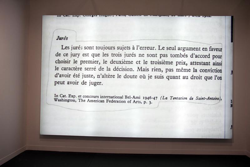 Claire Fontaine jurés, 2013 Courtesy de Air de paris & galerie Chantal crousel, Paris