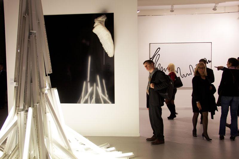 Le-stand-de-la-galerie-Yvon-Lambert-à-Paris